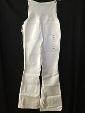 $128 A Pea In The Pod Jeans White Denim Low FLARE Medium NWT