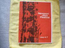 Orig 1963 Newport Jazz Fest Concert Program-Rare!Coltrane-Ell ington-Brubeck