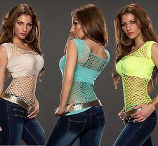 Figurbetonte Damen-Shirts ohne Kragen