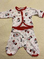 New listing Vintage Minnie Mouse Baby Pajamas By Dundee Sleeping/awake Rare Sz Newborn