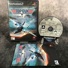 Top Gun Combat Zones PS2 PlayStation 2 PAL Game Complete Flight Sim Shooter