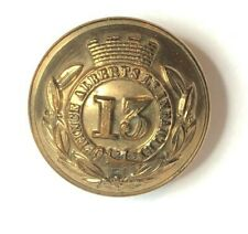More details for victorian 13th regiment of foot officers button 25 mm pitt 1st somersetshire