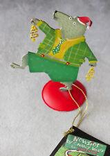 Silvestri metal Christmas card holder Nancy Wolff Newsies, dancing bear New &tag