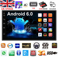 "7 ""Android 6.0 Car Radio estéreo MP5 Quad Core 3G WIFI Doble 2DIN Player GPS ES"