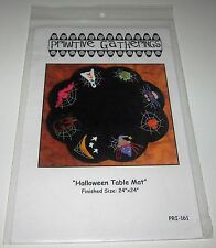 HALLOWEEN TABLE MAT wool applique sewing Pattern by Primitive Gatherings
