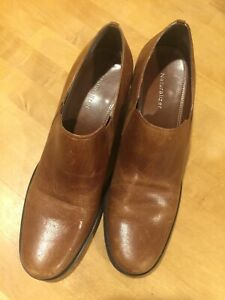 NATURALIZER Womens slip-on mid heel leather upper Brown/Camel shoes size 10 N