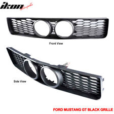 Fits 05-09 Ford Mustang GT Black Front Grille & Center Fog Hole