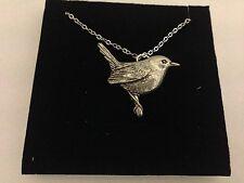 "Wren PP-B20 Emblem Silver Platinum Plated Necklace 18"""