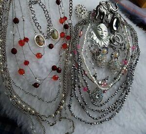 Silver Tone Jewellery Lot