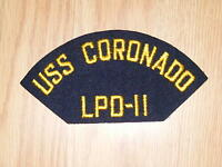 NEW RARE US Navy USS Coronado LPD-11 Embroidered Ship Cap Military Patch