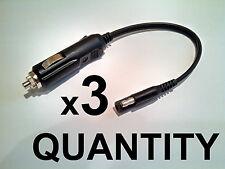 3 PCS - Cigarette Lighter plug / SAE Battery Tender Charger 2 pole Flat plug 12V