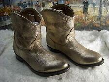 ASH - Judy - Platine Texan Boots - Size 38.5 - $350
