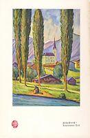 Kapruner Tal Kaprun Zell am See Kunstdruck 1929 Fritz Preiß Pappeln Berge Print