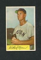 1954 Bowman #114 Williard Nixon VG+/VG-EX (Red Sox) FREE SHIPPING ON $20+ *GCC*