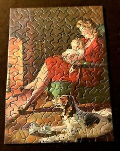"""Tuco Picture Puzzle 1940 """"Fireside Friends"""" 12""""x16"""" Over 200 Thick Pieces"""
