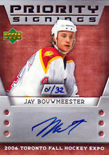 06-07 Upper Deck PRIORITY SIGNINGS 01/32 Made! Jay BOUWMEESTER - Panthers