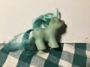 My Little Pony G1 Baby Pony Doodles with blue mane and tail