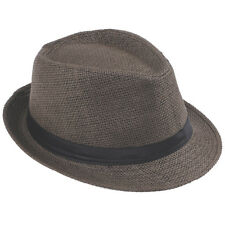 Unisex Men / Kid Boy Fedora Gangster Cap Trip Beach Sun Straw Panama Hat Sunhat