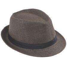 Unisex Men / Kid Boy Fedora Gangster Cap Trip Beach Sun Straw Panama Hat Sunhat
