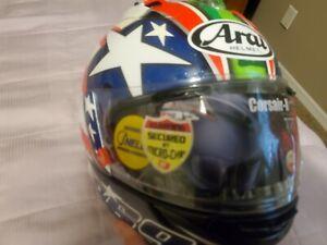 Arai Corsair X Nicky 6 Hayden motorcycle helmet Stars & Stripes Flag RIP 7  XL
