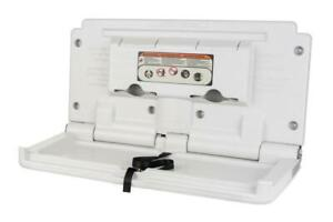 CONTINENTAL Wall Mounted Baby NAPPY Changer Horizontal Changing Unit Station