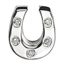 CHAMILIA STERLING SILVER HORSESHOE CLEAR CZ JB-30A CUBIC ZIRCONIA BEAD LUCK