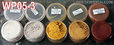 WPS05-3 DAVE'S WEATHERING POWDERS ALL NATURAL EARTH PIGMENT 5 COLOR SET 3