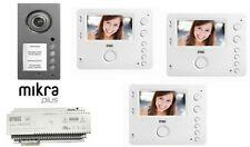 kit videocitofono 3 famiglie trifamiliare urmet  monitor vivavoce 1750/16 mikra