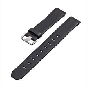JACOB JENSEN Uhrband strap Uhrenarmband original Leder black 19 mm Einschubband