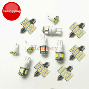 11PCS White LED lights T10 & 31mm Dome Map & Tag lamp for Interior package Kit
