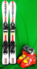 Head Team Era 2.0 Youth 97 cm Skis with 19.5 or 20.5 Boots - Yellow - USED