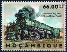 Union Pacific (UP) ALCO BIG BOY 4-8-8-4 #4019 train Stamp (2012) Mozambique