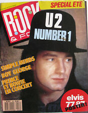ROCK & FOLK 243 1987 U2 Simple Minds Whitney Houston Boy George Steve Jones