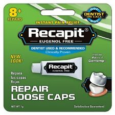 Recapit Cap And Crown Tooth Cement Maximum Strength Filler Kit 1 Gram