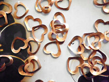 72 PC LOT Vintage Coppercoated 8mm Open Heart Findings