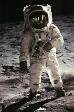 Astronaut Buzz Aldrin, Space Suit Walk, Moon Landing Apollo 11 NASA --- Postcard
