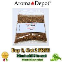 1 oz Whole Brown Grain Flax Seed 100% Pure Natural Omega-3 NON GMO Gluten Free