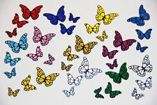 Vinyl Butterfly Decal Stickers - Choose Colour - Car, Camper, Caravan, Glass,