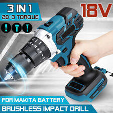 18V Brushless Cordless Compact Impact Drill 20 Torque Electric Hammer No Battery