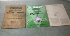 1952 Wisconsin Air Cooled Engine Book And Brochure