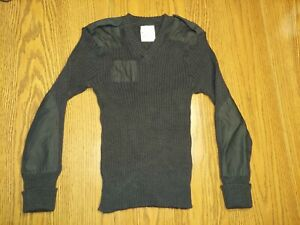 Brigade Quartermasters The Wooly Pully Sweater Black Wool England Size 40 M Mens