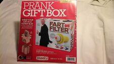"FART FILTER Prank Gift Box 11.25"" x 9"" x 3.25"" Fake Gag Funny Parody Joke NEW"