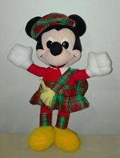 Peluche topolino scozzese 20 cm pupazzo originale disney vintage plush soft toys