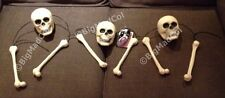 Halloween Shaking Skulls & Bones wth Spooky Lights & Sound Party Decoration NEW