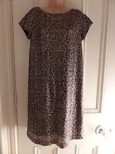 Classy Next Tall UK 10 completely sequinned short sleeved dress gold patterns
