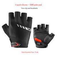 RockBros Cycling Bike Thickened Pad  Anti-slip Shockproof Gel Short Gloves Black