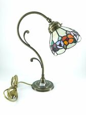 Lámpara de Apoyo Mesa Mesilla Noche Entrada Móvil Latón con Cristal Tiffany Fio