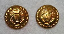 """1902-1912 Era Band Side Cap Buttons - """"Made in England"""""""