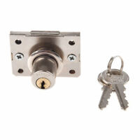 PARROT 0.63-inch Cabinet Cylinder Drawer Lock with 2-Keys - Silver Tone Z7P1
