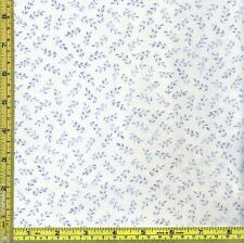 Blue Leaf Sprigs 100% Cotton Sewing Red Rooster Fabric 1/4 yard 22.5 cm off bolt